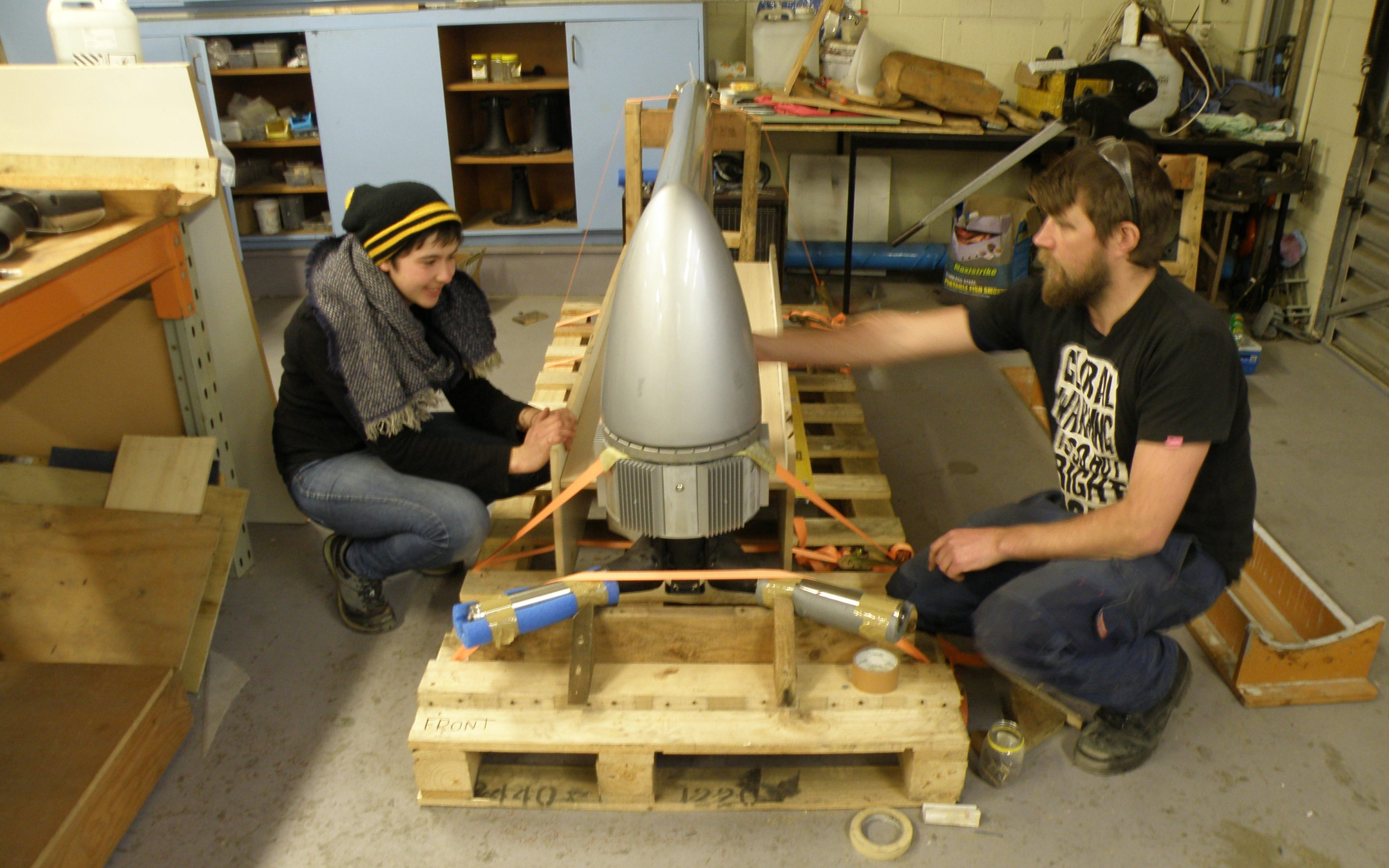 Production of the ThinAir Wind Turbine